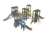 Holz-Spielplatzgerät / HPL / für Spielplätze / modular