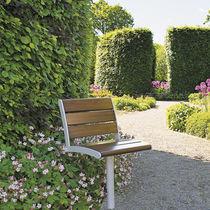 Moderner Gartenstuhl / drehbar / Holz / Metall
