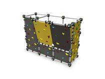 Festinstallierte Kletterwand / für Spielplätze