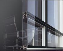 Transportierbare Trennwand / Aluminium / verglast / für gewerbliche Einrichtungen