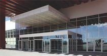 Strukturglasvorhangfassade / aus Aluminium und Glas