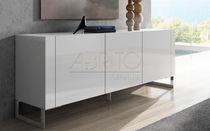 Modernes Sideboard / lackiertes Holz / weiß