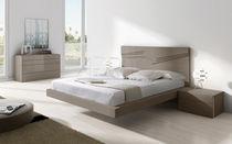 Schwebebett / doppelt / modern / lackiertes Holz