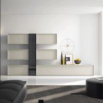 Moderner Wohnzimmer Wohnwand / lackiertes Holz