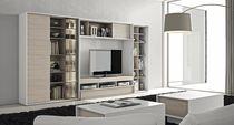 Moderner Multimedia Möbel / lackiertes Holz