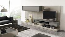 Moderner Multimedia Möbel / Modul / lackiertes Holz