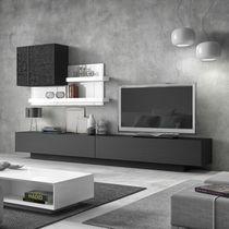Moderne Wohnwand / Holz / lackiertes Holz / Hi-Fi