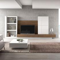 Moderne Wohnwand / Holz / lackiertes Holz / Modul