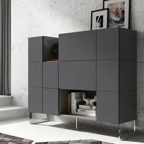 Hohes Sideboard / modern / lackiertes Holz