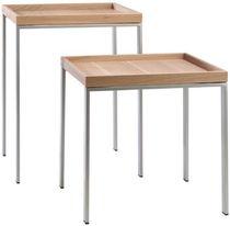 Moderner Beistelltisch / Massivholz / rechteckig / Contract