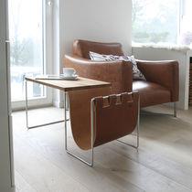 Moderner Beistelltisch / Leder / rechteckig / Contract