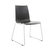 Moderner Besucherstuhl / Stapel / Polster / mit Armlehnen