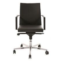 Moderner Bürostuhl / mit Rollen / Polster / mit Armlehnen