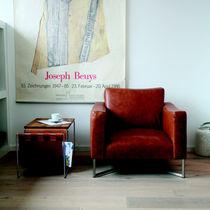 Moderner Sessel / Stoff / Stahl / Kufen