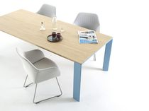 moderne esstisch / holz / beton / aluminium - balance - arco