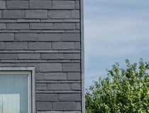 Hinterlüftete Fassade / aus Stein
