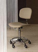 Moderner Stuhl / verstellbar / mit Rollen / Gewerbe