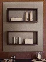 Wandmontiertes Ablageregal / für Kosmetika / Holz / für Frisörsalon