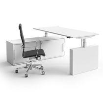 Schreibtisch für Open Space / Melamin / originelles Design / Gewerbe