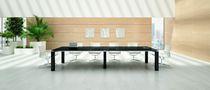 Moderner Beistelltisch / Holzfurnier / rechteckig / 100% wiederverwertbar