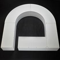 Parkbank / modern / Kunststoff / für öffentliche Plätze modulierbar