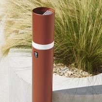 Sockel-Ascher / Metall / für den Außenbereich / für öffentliche Bereiche