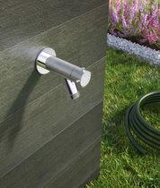 Wasserhahn für Trinkbrunnen / wandmontiert / Stahl / für den Garten