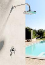 Einhebelmischer für Duschen / einbaufähig / Edelstahl / Außen