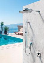 Einhebelmischer für Duschen / Einbau / Edelstahl / Außen