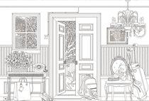 Klassische Tapeten / Motiv / Skizzenmotiv / Vlies