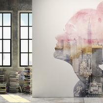 Moderne Tapeten / Vinyl / mit Naturmotiv / mit städtischen Motiven
