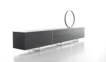 Modernes Sideboard / Leder / schwarz