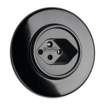 Unterputz-Steckdose / Bakelite® / klassisch / schwarz