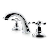 Waschtisch-Mischbatterie / frei stehend / Messing / für Badezimmer