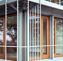Terrassentür zum Schieben / Holz / Doppelverglasung / Sicherheit
