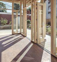Stapelbare Schiebe Terrassentür / Holz / Doppelverglasung