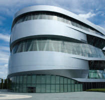 Fassadenverkleidung aus Aluminium / Metall / reflektierend / plattenförmig