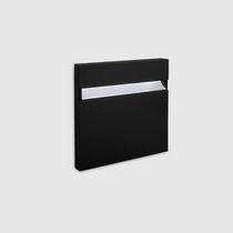 Moderne Wandleuchte / aus Aluminiumguss / LED / quadratisch