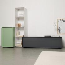 Modernes Sideboard / Aluminium / lackiertes MDF / aus Blech