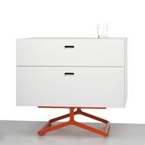 Nachttisch / modern / lackiertes Holz / aus MDF