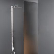 Wandmontiertes Duschsystem / modern / mit Handbrause / mit regulierbarem Brausekopf