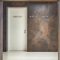 Verkleidungspaneel / für Innenausbau / aus Keramik / strukturiert