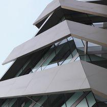 Keramikfassadenverkleidung / strukturiert / Metalloptik / für hinterlüftete Fassade