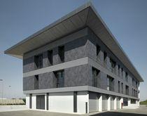 Keramikfassadenverkleidung / matt / Metalloptik / für hinterlüftete Fassade