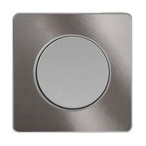Tastschalter / Aluminium / Holz / modern