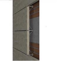 Metall-Befestigungssystem / Edelstahl / für Fassadenverkleidung / für hinterlüftete Fassade