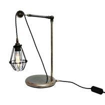 Tischlampe / Industriestil / Stahl / Messing