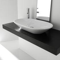 Aufsatzwaschbecken / oval / Keramik / modern