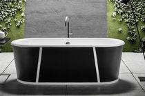 Freistehende Badewanne / aus Gusseisen