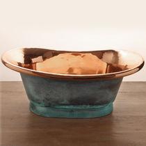 Aufsatzwaschbecken / oval / Kupfer / modern